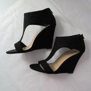 JUST FAB Black Wedge Heel